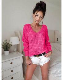Дамски пуловер в циклама - код 8768