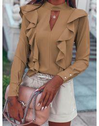 Елегантна блуза в бежово - код 7715