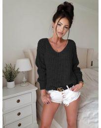 Дамски пуловер в черно - код 8768