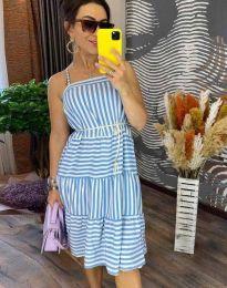 Дамска рокля в светлосиньо - код 14777