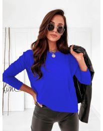 Дамска блуза в тъмносиньо - код 5582