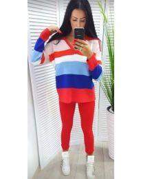 Цветна плетена блуза - код 725