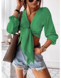 Дамска блуза в зелено - код 1059