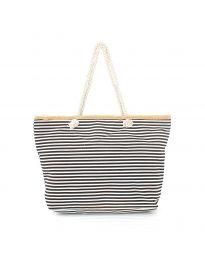 Плажна чанта с черно райе - код H-9030