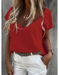 Дамска тениска в червено - код 0589