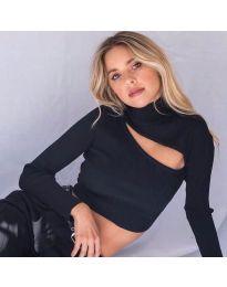 Дамска блуза в черно - код 9622