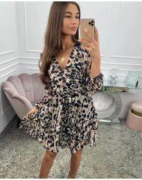 Дамска рокля с ефектен десен - код 8815