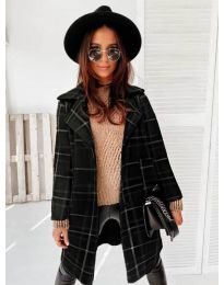 Свободно палто в черно - код 0800