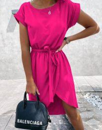 Дамска рокля в цвят циклама - код 2074