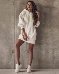 Свободна спортна рокля в бяло - код 11604