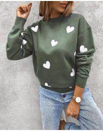 Дамска блуза с ефектен десен - код 3280 - 4