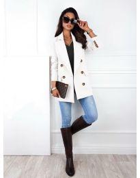 Дамско сако в бяло - код 2113