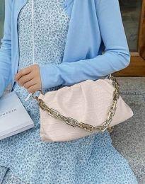 Ефектна дамска чанта в бежово - код B395