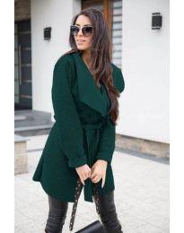 Дамско палто букле в зелено - код 373