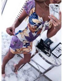 Дамска многоцветна рокля - код 181 - 2