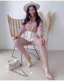 Дамски комплект в розово - код 6264