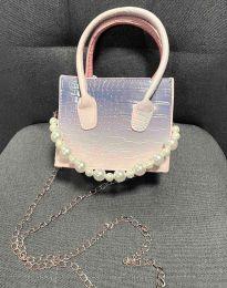 Дамска чанта в сиво и синьо - код B436 - 3