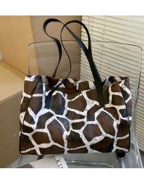 Дамска чанта с животински десен - код B158 - 2