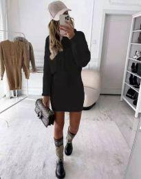 Елегантна дамска рокля в черно - код 0235