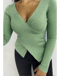 Дамска блуза в зелено - код 6322