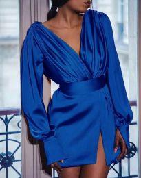 Елегантна дамска рокля в тъмносиньо - код 5324