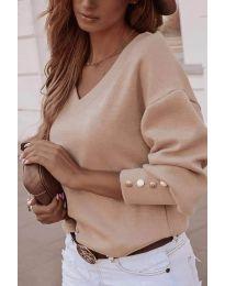 Елегантна дамска блуза в бежово - код 812