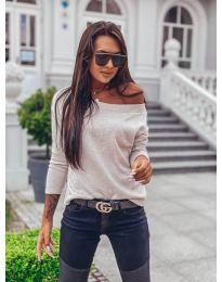 Дамска блуза в бежово - код 4417