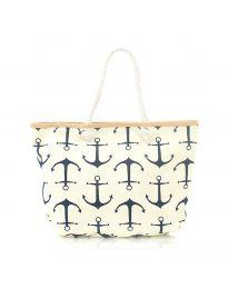 Плажна чанта в жълто - код H - 9026