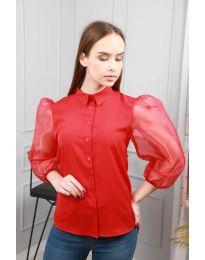 Дамска риза в червено - код 0633