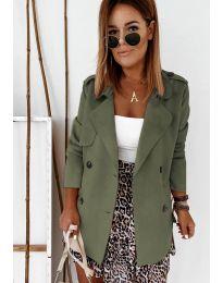 Дамско палто в маслено зелено - код 826