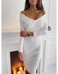 Елегантна рокля в бяло - код 6130