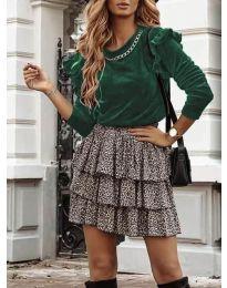 Дамска блуза в маслено зелено - код 4948