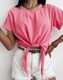 Ефектна дамска тениска в розово - код 11669