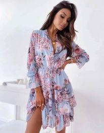 Дамска рокля с флорален десен - код 2550 - 5