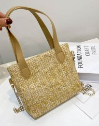 Дамска чанта в цвят капучино - код B431