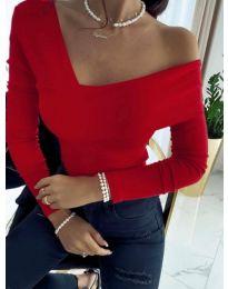 Атрактивна дамска блуза в червено - код 5343