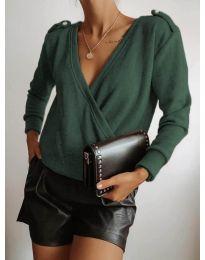 Дамска блуза в тъмно зелено - код 294