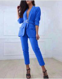 Комплект от сако и панталон в синьо - код 813