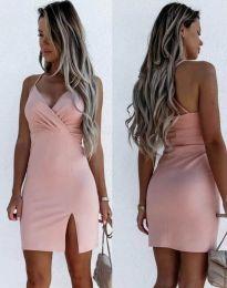 Елегантна дамска рокля в светлорозово - код 8979