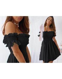 Свободна къса дамска рокля в черно - код 0310