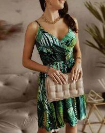 Дамска рокля с флорален десен - код 2581 - 4
