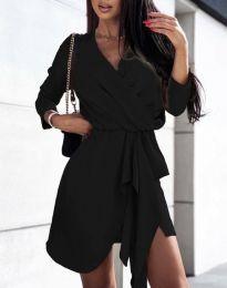 Дамска рокля в черно - код 2879