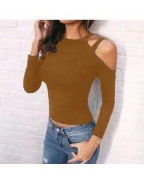 Дамска блуза в кафяво - код 952