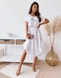 Атрактивна дамска рокля в бяло - код 11893