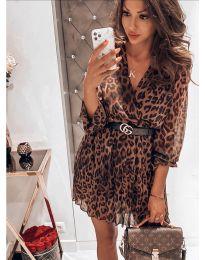 Дамска рокля с атрактивен десен - код 5514 - 6