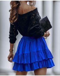 Стилна пола в синьо - код 4122