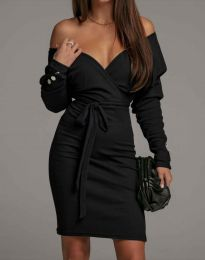 Дамска рокля в черно - код 4765