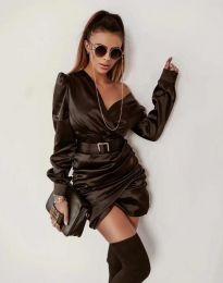 Стилна дамска рокля в черно - код 0659