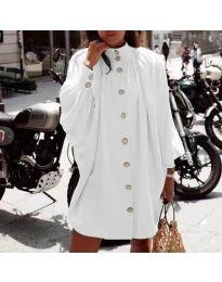 Свободна рокля в бяло - код 0899