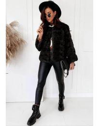 Дамско късо палто в черно - код 7676